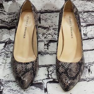 Audrey Brooke Faux Snakeskin Shoes